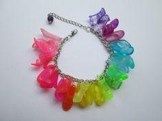 Barbie Shoe  Bracelet / Just shoes Transparent colors  / ITEM 3692