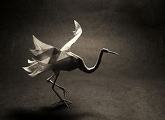 Origami Crane by Roman Diaz and Daniel Naranjo and folded by kekremsi