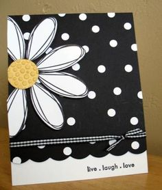 Easy and cute design with hand-drawn petals, polka dots, and gingham ribbon; can use any color