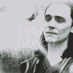 "Tom Hiddleston as Loki. Frigga: ""Always so perceptive about everyone but yourself."" By solaceandsolitude.tumblr.com"