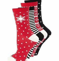 Bhs Womens Red and Black 4 Pack of Snowflake Ankle 4 pack of cotton rich ankle high socks, each with an individual design. Within this pack, you will receive socks with spots and snowflakes, stripes, fairisle and hearts in reds, whites and blacks. We  http://www.comparestoreprices.co.uk/fashion-clothing/bhs-womens-red-and-black-4-pack-of-snowflake-ankle.asp