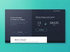 Homepage Design Animation for Blockchain Payment Platform by Igor Pavlinski