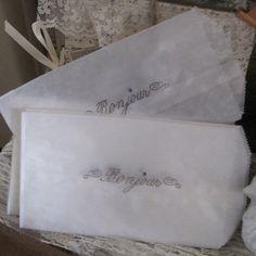 bonjour glassine sacks set of 10 by OkioBDesigns, $5.00