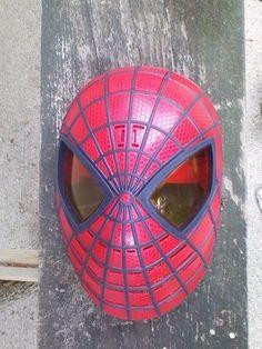 Spider Man Mask Marvel Halloween Costume Cosplay Adult Talks W Eyes Lit