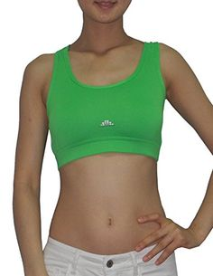 787247708e26a Womens Athletic Yoga   Running Sports Cropped Tank Top L Green at Amazon Women s  Clothing store
