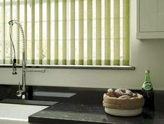 Vertical blinds are made in our factory in Attleborough Norfolk. Book an appointment and we will measure up for you.
