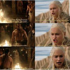 Khal Drogo & Daenerys (6x6) The Moon of his life & her Sun & Stars.