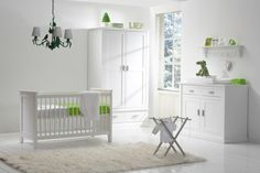 Dutch Baby room made by Alta Furniture from the Netherlands made of solid Scandinavian wood with lime accents.