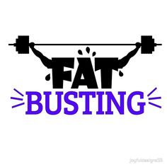 Lsquo Fat Busting Graphic with Weights rsquo   by joyfuldesigns55 This graphic design has the message Fat Busting with weight lifting barbells in it.  Great for fitness exercise and weight loss genre of your favorite clothing or products.  Order now.  Buy this artwork on apparel stickers phone cases and more.