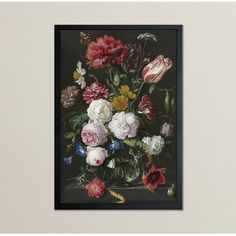 "Rosalind Wheeler Flower Arrangement XIV Framed Painting Print Size: 30"" H x 20"" W"