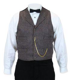 Winfield Wool Tweed Vest - Brown
