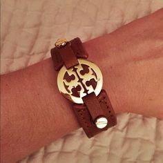 Leather Tory Burch Wrap Bracelet Small wrap Tory Burch Bracelet. Fits a smaller wrist. NWOT Tory Burch Jewelry Bracelets