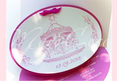 Christening Invitations, Decorative Plates, Tableware, Handmade, Home Decor, Homemade Home Decor, Dinnerware, Hand Made, Dishes