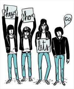 Ramones - Joey, Johnny, Dee Dee  Tommy