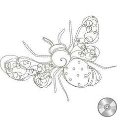 Embroidered Bee Pattern | Bee 1 Embroidery Design | CD - Embroidery Designs – Loralie Designs