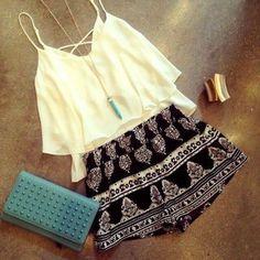 Shorts: necklace t-shirt bag shirt jewels blouse black cute white retro girl power bank summer tank