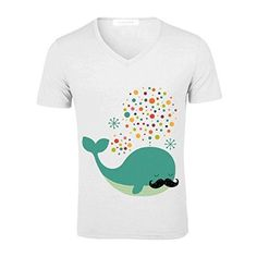 1d78912f50e344 Firewhale Men V Neck Personalized Tees White