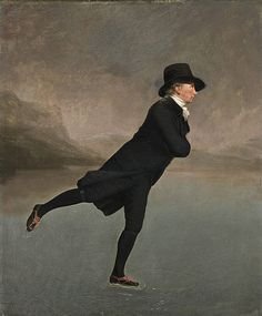The Skating Minister by Henry Raeburn, depicts a member of the Edinburgh Skating Club in the 1790s.