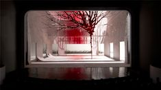 Ming Cho Lee's stage model for a production of MacBeth - beautiful set.