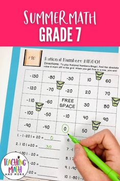 Are your students ready for Summer? Send home this fun Summer Math Packet Project with your kids. Students will engage in math puzzles, printables, and worksheets to keep up their math skills for middle school math. Perfect for grades 7 to 8. Grab your Summer Math Activities today! Maths Puzzles, Math Activities, Math Skills, Math Lessons, Seventh Grade Math, Math Lesson Plans, Math Projects, Problem Solving, Middle School