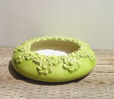 cute for succulents - Royal Haeger Planter Bowl Floral Pottery by Yesterdayand2day, $39.00