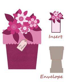 Flower pot shape card, very cute...New idea for GBD