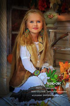 CAnastasia Orub (born May 15, 2008) Russian child model. Project Boho-chic. Lara Kantur Photography.