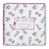 Hello Minnie! SwaddleDesigns has introduced Disney Classics! - Ultimate Receiving Blanket  - Minnie Gray + Pink