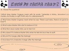 Kung Fu Panda 1 movie worksheet!