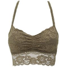7998420d64d4d Charlotte Russe Lace Racerback Bralette ( 11) ❤ liked on Polyvore featuring  intimates