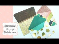 (37) Como hacer sobres de papel , sin herramientas - YouTube Scrapbook Sketches, Scrapbook Albums, Diy And Crafts, Paper Crafts, Envelope Punch Board, Pop Up Cards, Scrapbooks, Gift Wrapping, Invitations