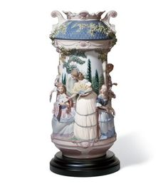 LLADRO - LADIES IN THE GARDEN VASE (2004)