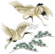 Illustration about I drew a crane in Japanese technique, I drew a Nipponian crane in a freehand drawing,. Illustration of asia, sketching, tradition - 42214602 Japanese Drawings, Bird Drawings, Japanese Prints, Japanese Painting, Chinese Painting, Chinese Art, Japanese Bird, Japanese Crane, Crane Drawing