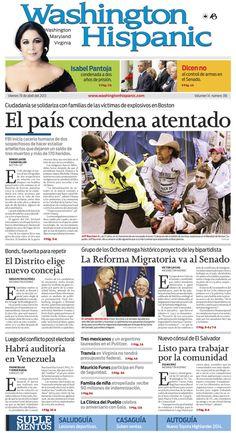 Edición del 19 de abril de 2013. http://www.washingtonhispanic.com/index.php?mod=historico=284