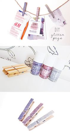 DIY Glitter Pegs - Nouvelle Daily
