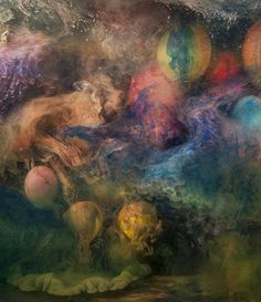 With a 200 gallon aquarium, water, paint and ink as his medium, Kim Keever creates underwater art for his series Abstract Images. It's not the first time we've been wowed by this kind of abstract art, however Kim's experimental randomness makes his work especially mesmerizing and uniquely