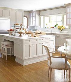 Cream Kitchen love the island House Beautiful Barbara Barry   POPSUGAR Home