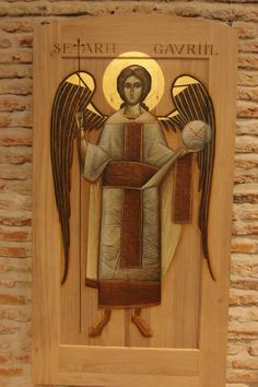 Archangel Gabriel by Ioan Popa Archangels, Orthodox Icons, Agnus Dei, Byzantine Art, Renaissance Art, Painting, Art, Christian Art, Sacred Art