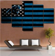 100% High Quality Product and Guaranteed Satisfaction  5 Panel Carolina Panthers Flag Print Painting On Canvas Modern Home Pictures Prints Living Room Decor Fans Posters Bedroom  Description:  1. Name: 5 Pcs Carolina Panthers Flag Canvas Prints...