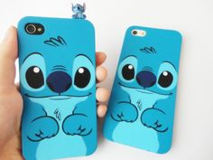 SALE 80-20%OFF: Very Cute Stitch from Lilo & Stitch iPhone 4 and iPhone 5 protective cases. $12,00, via Etsy.