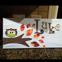 DIY nursery project, fun way to use scrapbook paper ;)