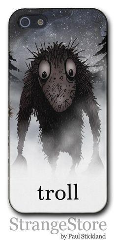Troll iPhone5 case by Paul Stickland  StrangeStore  #strangestore #trolls #geeks