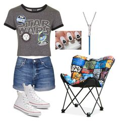 """""""Sneakers and Star Wars"""" by medgurl ❤ liked on Polyvore featuring Topshop and Converse"""