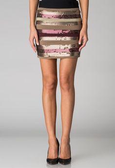 Silvian Heach Woman Shine Brown Skirt  http://www.fashiondays.bg/product/silvian-heach-woman-shine-brown-purple-skirt-2649359-1/