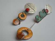 "Elza Pereira silver and copper enamels ""Articulate"""