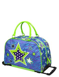 Zebra & Stars Roller Duffle | Travel Luggage | Bags & Totes | Shop Justice
