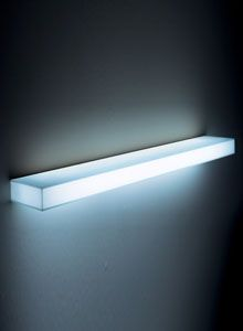 Glas Italia Light-Light Modern Illuminated Wall Mounted Shelf