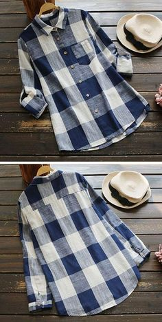 Hot sale,only $21.99! Short Shipping& Easy Return!This casual shirt is in style with plaid pattern and pocket design. See more amazing items at Cupshe.com !