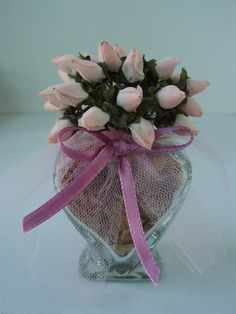 12 Pc Dinner Party Favors Heart Shape Glass Pastel Pink & by 2lewa