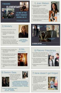 It's not as good as Sherlock, but I do really enjoy the show. And I find it funny that male characters re-imagined as woman is part of the reason people don't like the show. Elementary Sherlock, Elementary My Dear Watson, Sherlock Bbc, Sherlock Fandom, Watson Sherlock, Jim Moriarty, Sherlock Quotes, Great Tv Shows, Movies